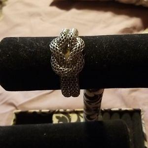 Silver knot bracelet
